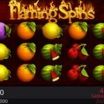 Online automat Flaming Spins
